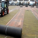 Artificial Turf Replacement in Pen-twyn 8
