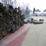 Rip Up and Dispose Sports Surface in Abbey Gate 9