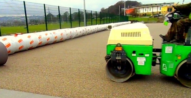 Installing Surface Shock Pad in Hampshire