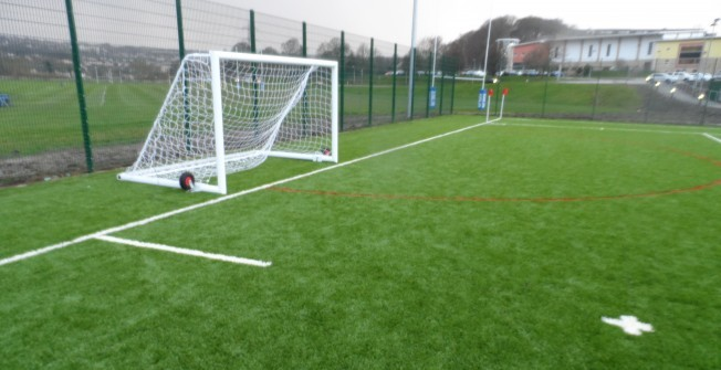 Football Pitch Nets in St George's Well